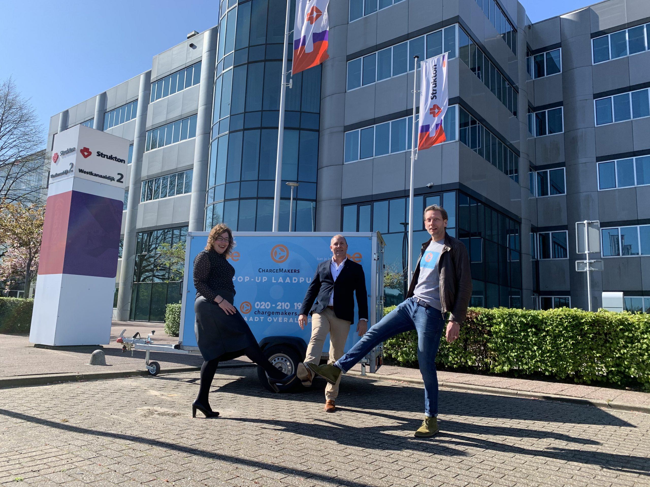 ChargeMakers Strukton samenwerking tijdelijke laadpunten bouw en infra civiel