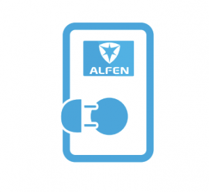 Alfen-Leaflet-LCD-Kleurendisplay-Eigen-Logo
