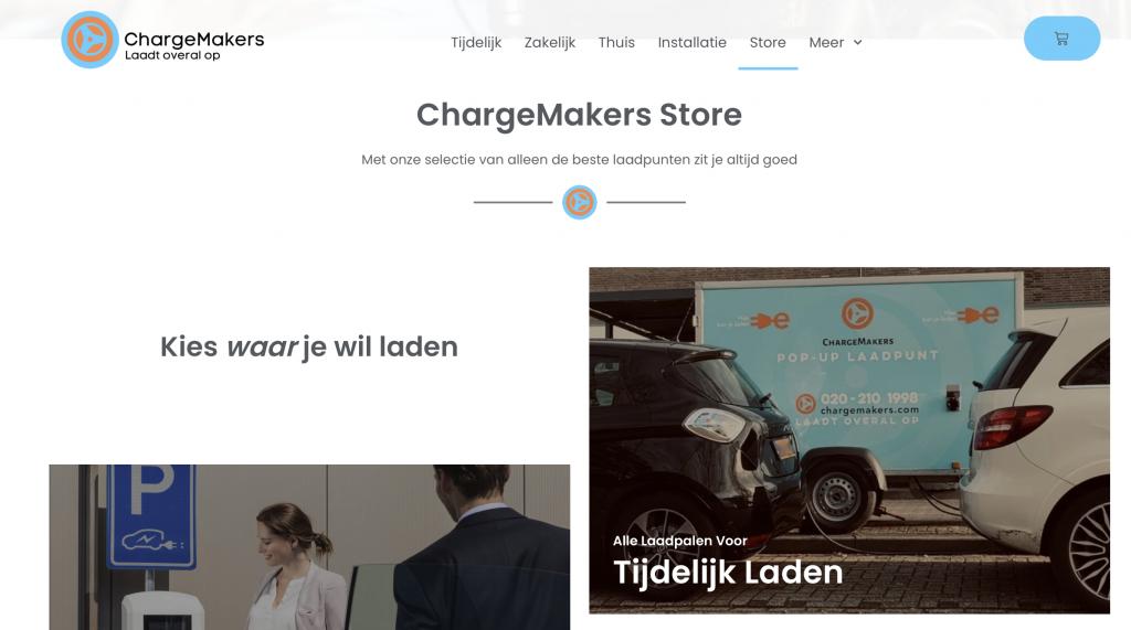ChargeMakers-lanceert-store